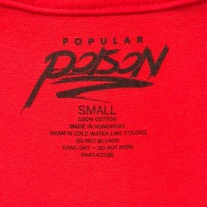 POPULAR POISON Shirts - Red GOD'S PLAN tee